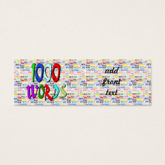 A Thousand Words - 1000 Words Mini Business Card