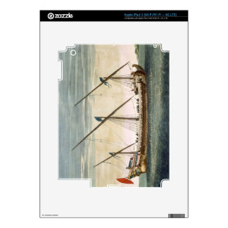 A three-masted Galleass under way by oar, from 'Le iPad 3 Skin