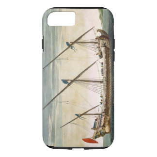 A three-masted Galleass under way by oar, from 'Le iPhone 7 Case