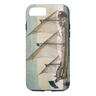 A three-masted Galleass under way by sail, oars sh iPhone 7 Case