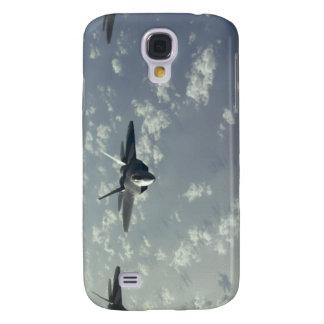 A three-ship formation of F-22 Raptors Samsung Galaxy S4 Case