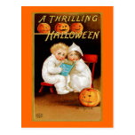 """ A Thrilling Halloween"" Postcard"