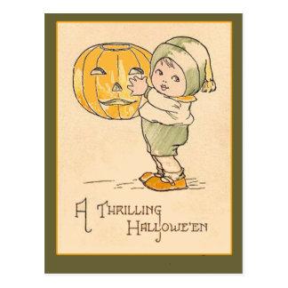 A Thrilling Halloween Vintage Art Card