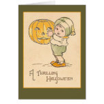 A Thrilling Halloween Vintage Art Card