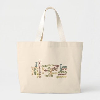 A Through Z Phonetic Alphabet Telephony (Wordle) Jumbo Tote Bag