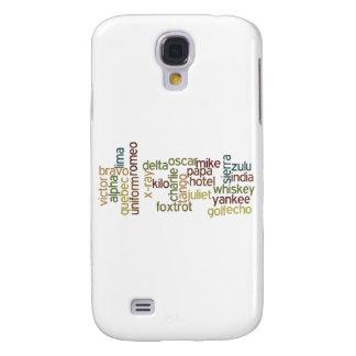 A Through Z Phonetic Alphabet Telephony (Wordle) Samsung Galaxy S4 Cover