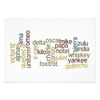 A Through Z Phonetic Alphabet Telephony Wordle Invite