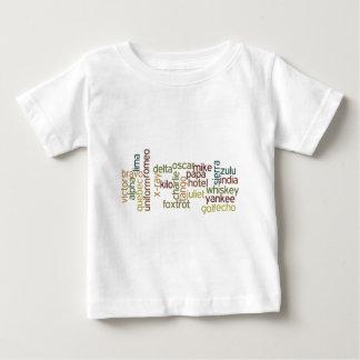 A Through Z Phonetic Alphabet Telephony (Wordle) T Shirts