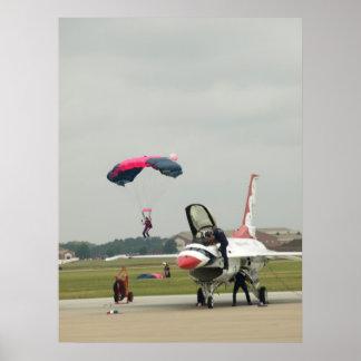 "A ""Thunderbirds"" F-16. Poster"