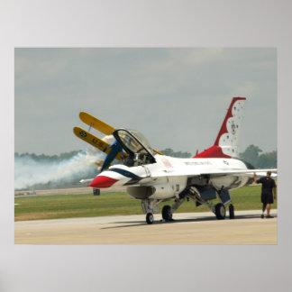 "A ""Thunderbirds"" F-16C. Poster"