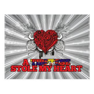 A Tibetese Stole my Heart Postcard