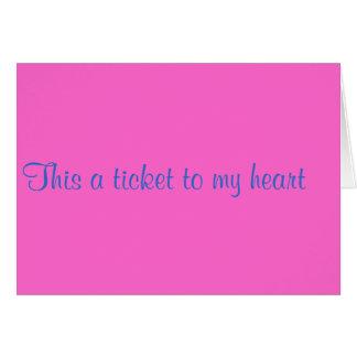 A ticket to my heard card