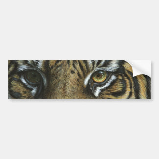 A Tiger Face Bumper Sticker