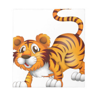 A tiger in a jumping position memo note pad