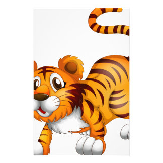 A tiger in a jumping position stationery