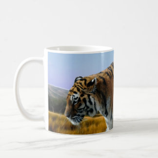 A Tiger loves water Classic White Coffee Mug