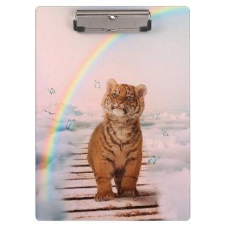 A tiger on the Rainbow Bridge Clipboard