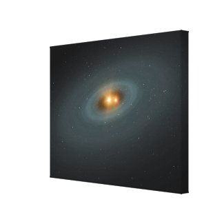 A tight pair of stars and a surrounding disk canvas print