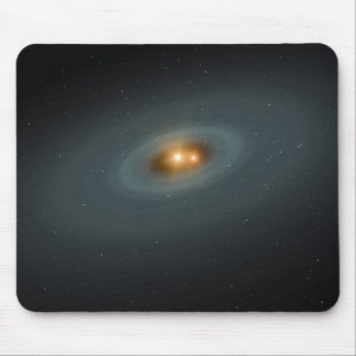 A tight pair of stars and a surrounding disk mouse pad