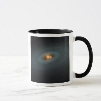 A tight pair of stars and a surrounding disk mug