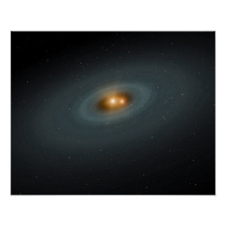 A tight pair of stars and a surrounding disk poster