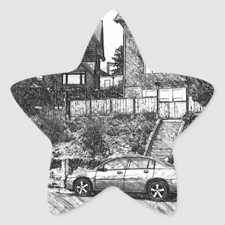 A Timber House in the Berkeley Hills Star Sticker