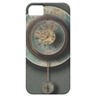 A Time and Place Steampunk Clock World Map iPhone 5 Cover