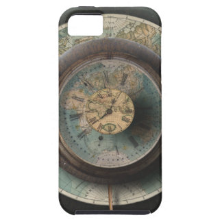 A Time and Place Steampunk Clock World Map iPhone SE/5/5s Case