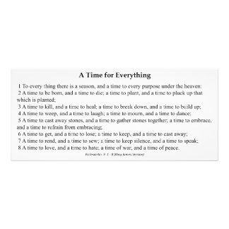 A Time for Everything Prayer Card Full Color Rack Card
