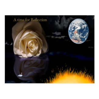 a time for reflection postcard