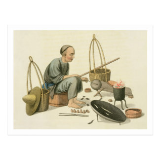 A Tinker, plate 37 from 'The Costume of China', en Postcard