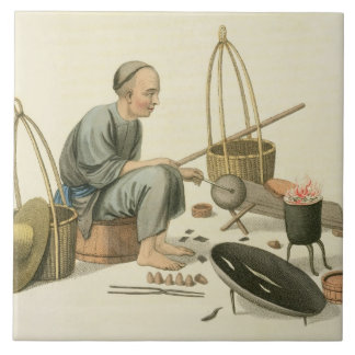 A Tinker, plate 37 from 'The Costume of China', en Tile