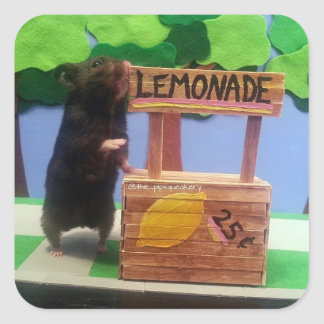A Tiny Bear Wants Some Lemonade Square Sticker