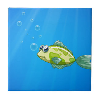 A tiny fish in the ocean tile