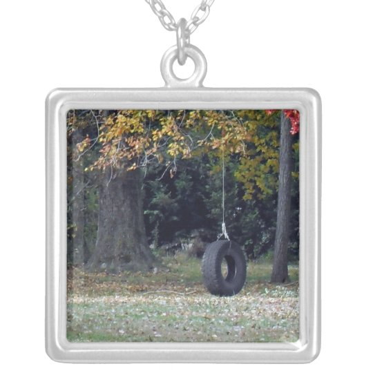 A Tire Swing Silver Plated Necklace