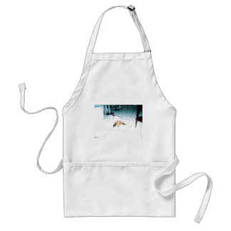 A Tired Basset Hound Adult Apron