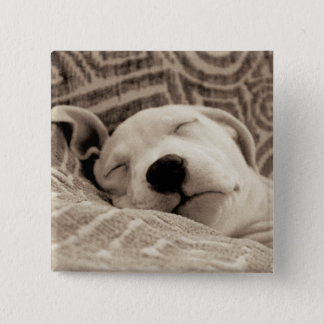 A Tired Dog Button