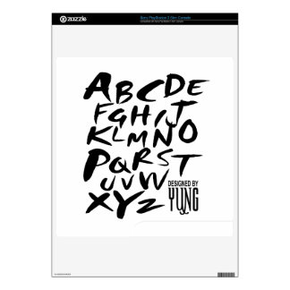 A to Z Alphabetic Letters Custom Skins PS3 Slim Skin