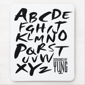A to Z Alphabetic Letters Mouse Pad