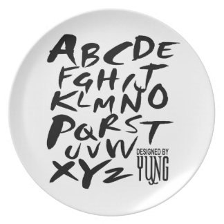 A to Z Alphabetic Letters Plate