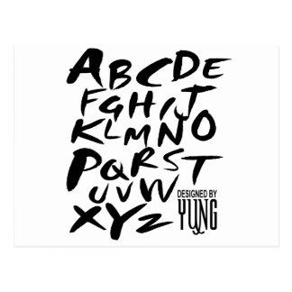 A to Z Alphabetic Letters Postcard