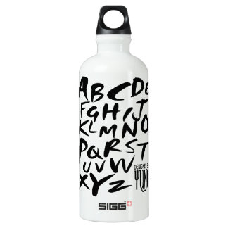 A to Z Alphabetic Letters SIGG Traveler 0.6L Water Bottle
