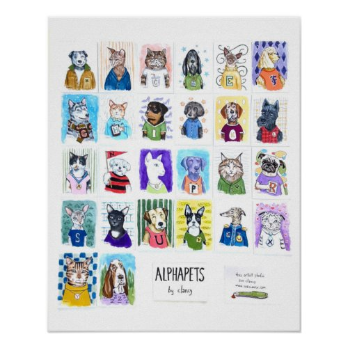 A to Z Alphapets by Clancy Poster