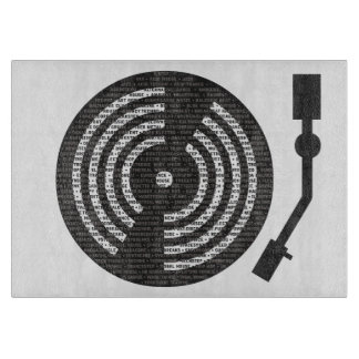 A to Z of Electronic Music Turntable Cutting Board