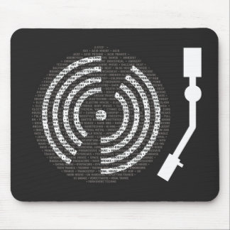 A to Z Turntable Dark Mousepad