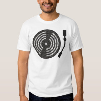 A to Z Turntable T-shirt