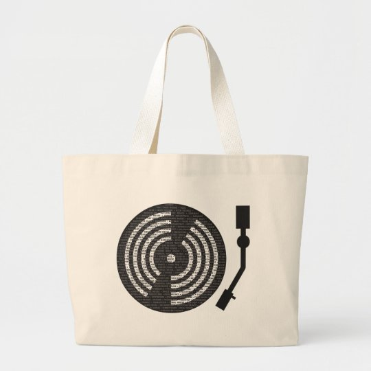 A to Z Turntable Tote Bag