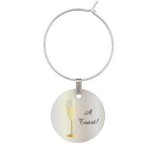 A Toast! An Event Party Favor Wine Glass Charm