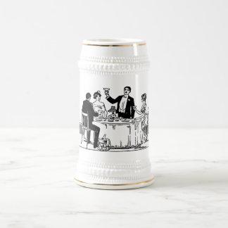 A toast beer stein