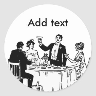 A toast classic round sticker